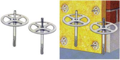 isolatieplug diam.90 + nagel kunststof / 10x90, 100 stuks